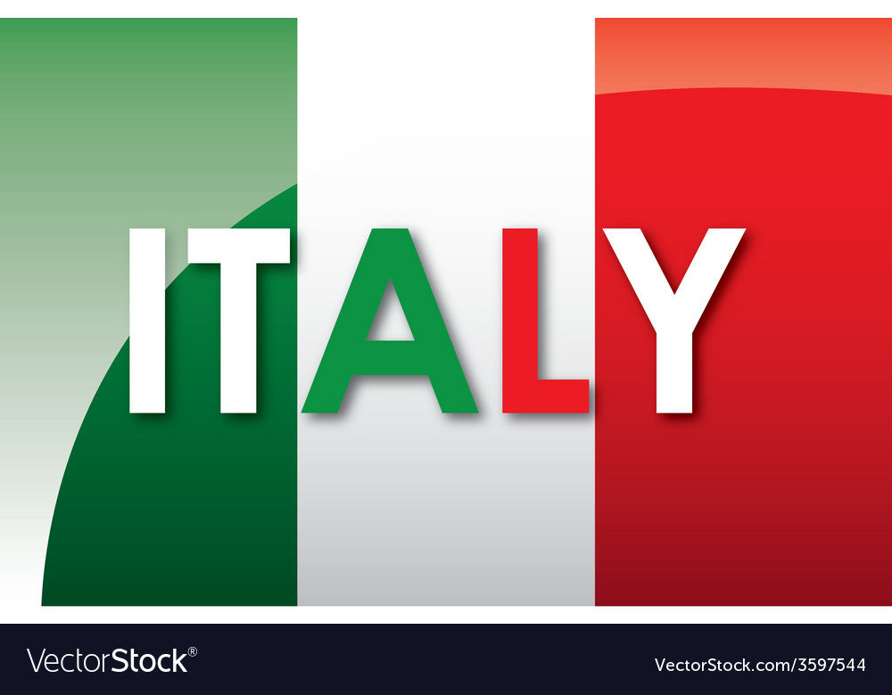 Italy flag vector image
