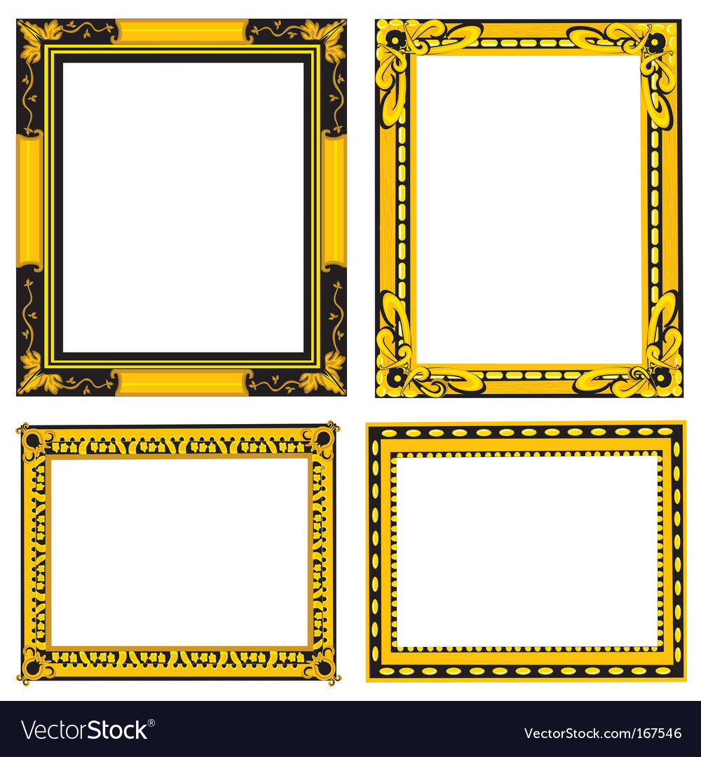 Ornate gold and black frames royalty free vector image ornate gold and black frames vector image jeuxipadfo Image collections