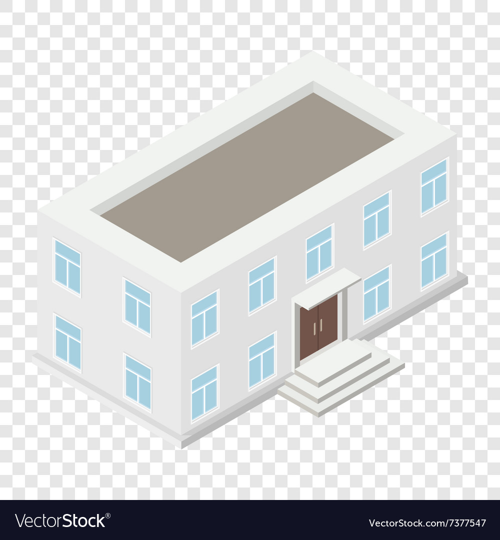 Architecture isometric house vector image