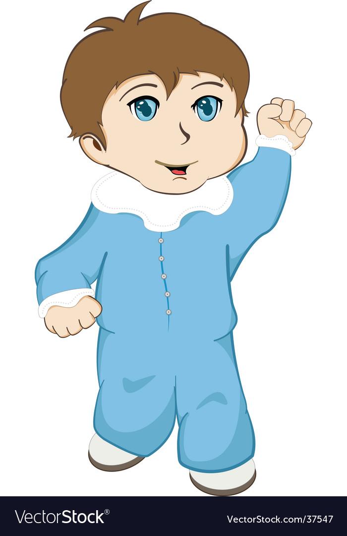 Baby walking vector image