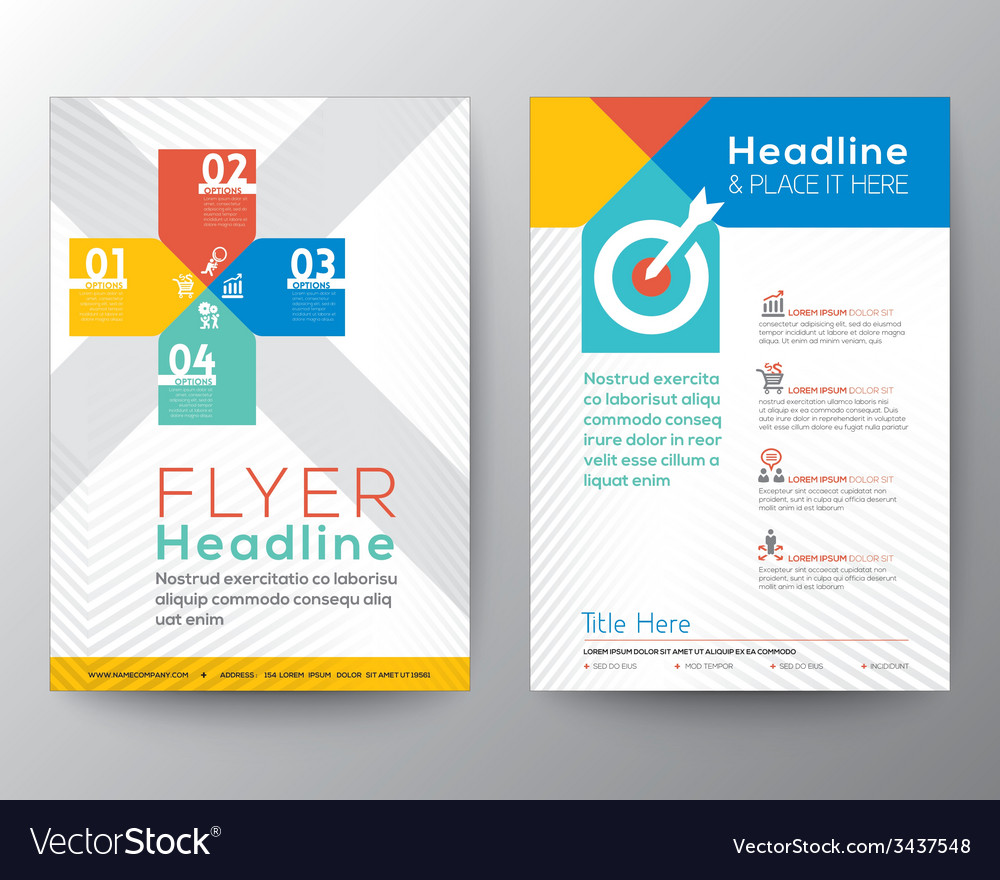 Brochure flyer graphic design layout template vector image for Brochure graphic design