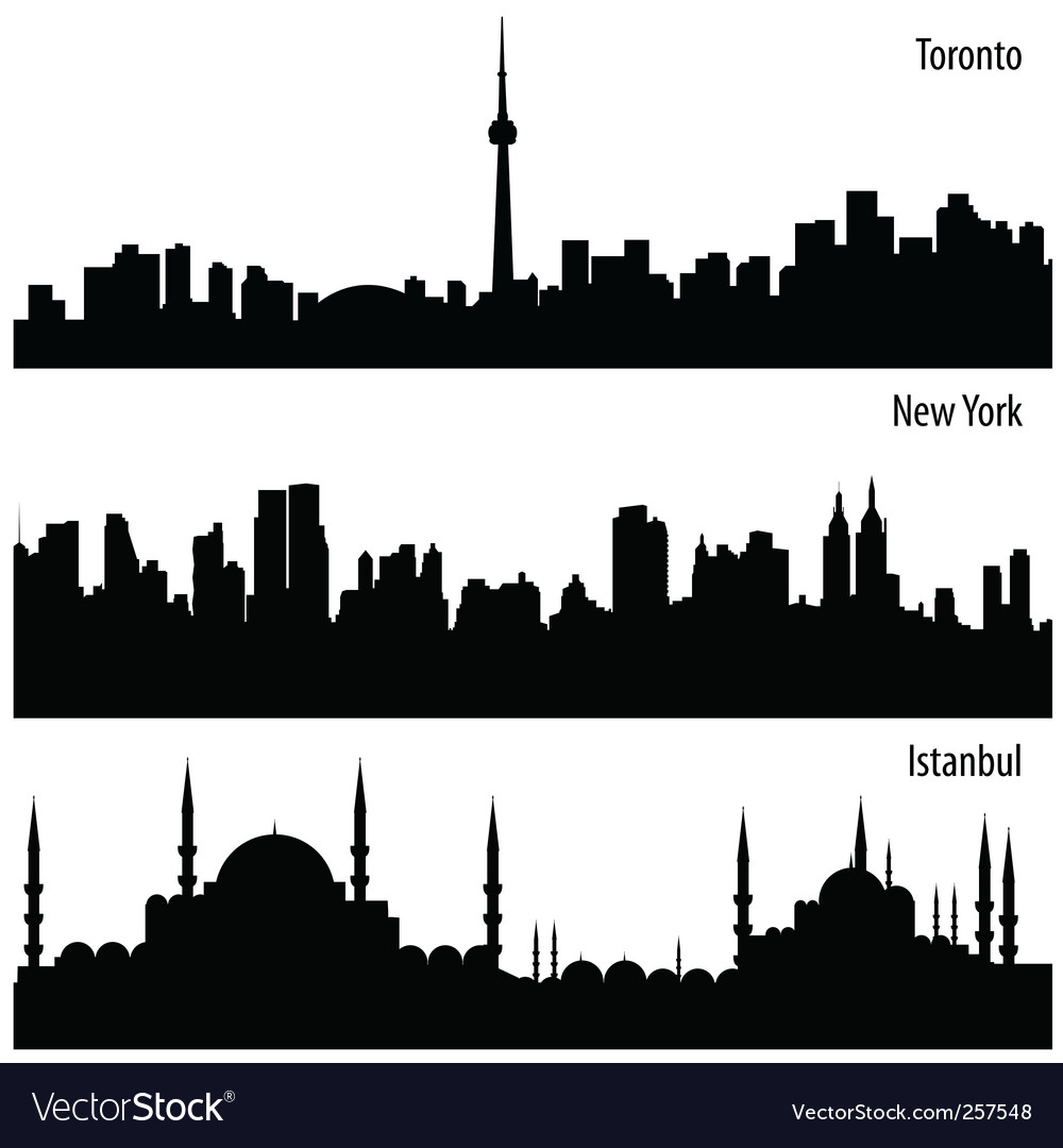 Cityscape collection vector image