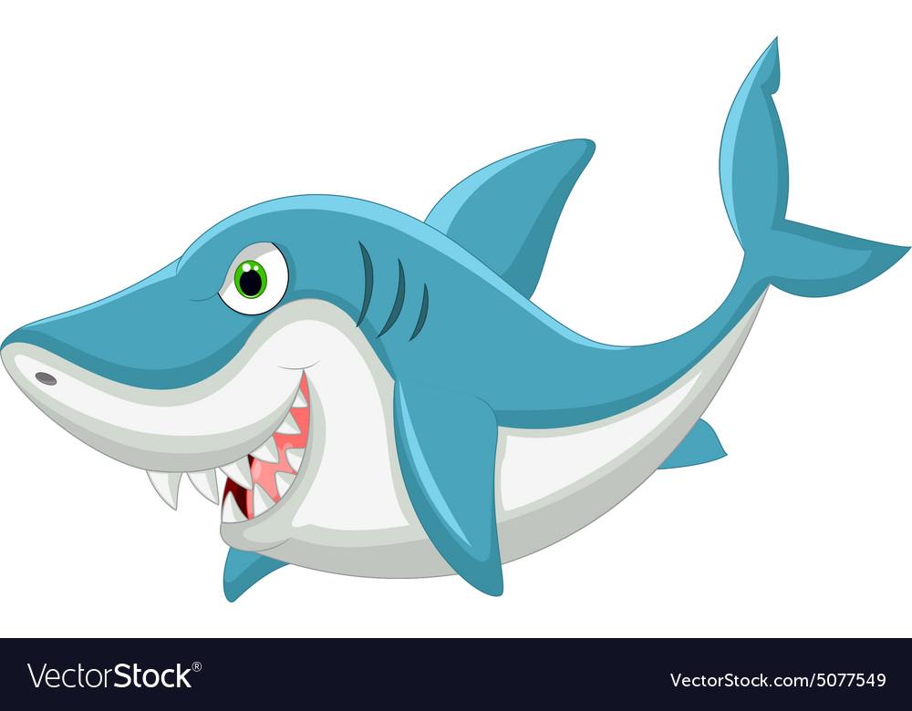 Cartoon shark vector image