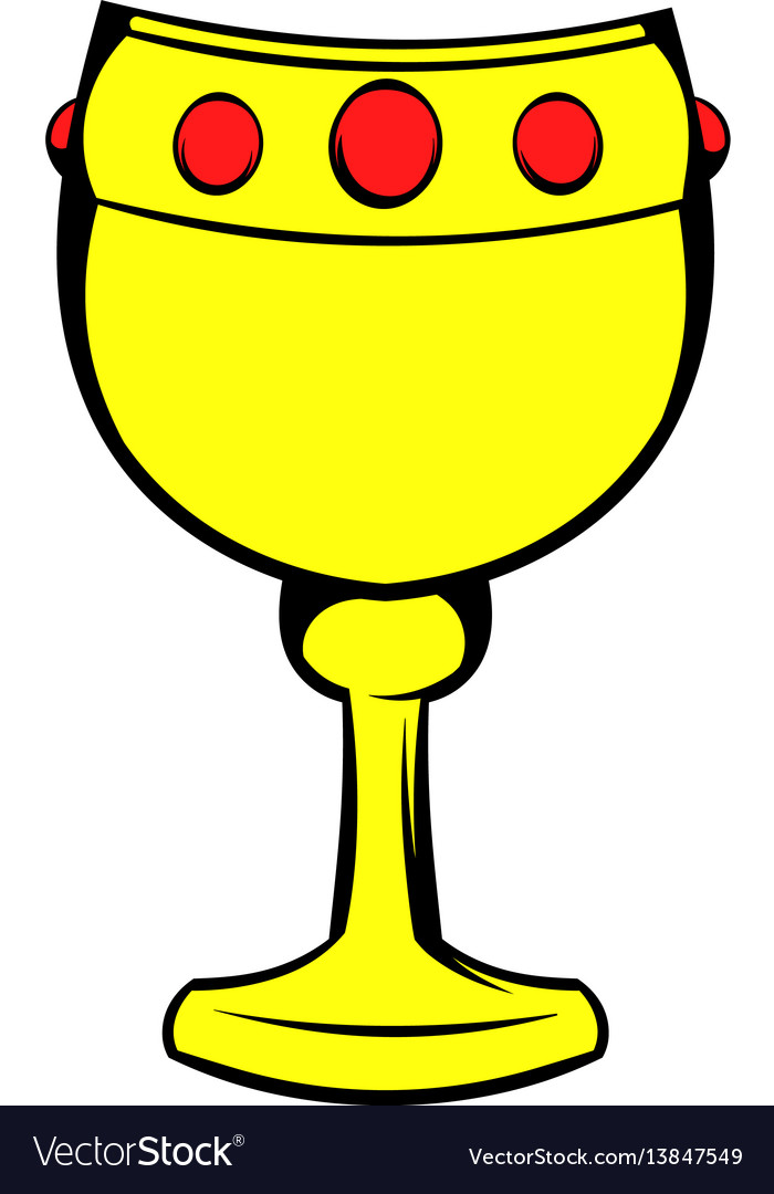 Chalice with wine icon icon cartoon vector image