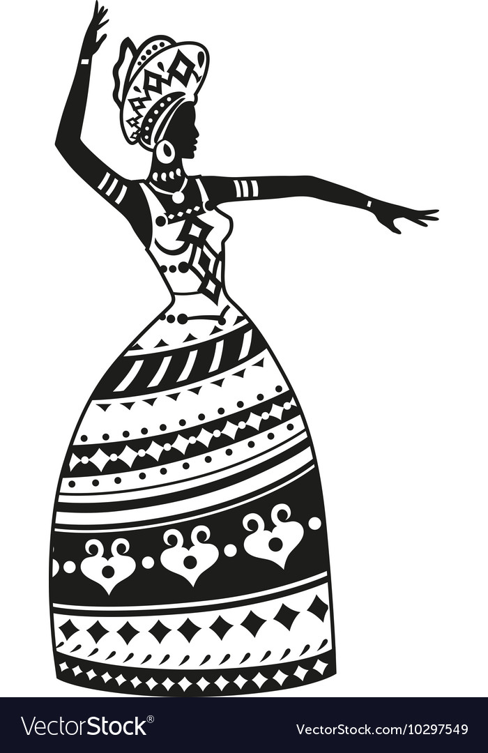 Ethnic Dance African Woman Royalty Free Vector Image