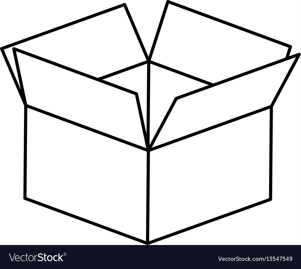 Figure box opened icon vector image