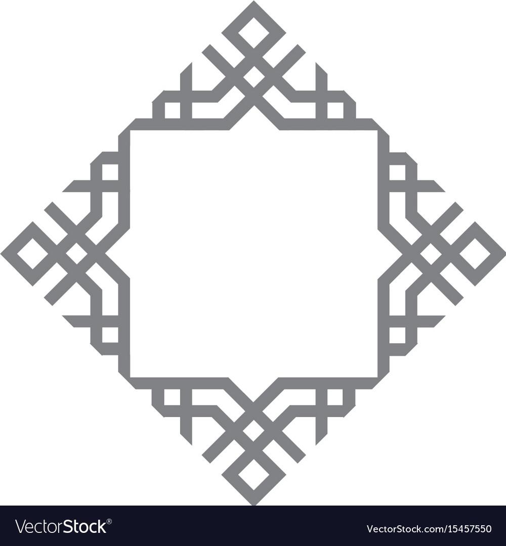 Arabic logo template arabic symbol icon vector image