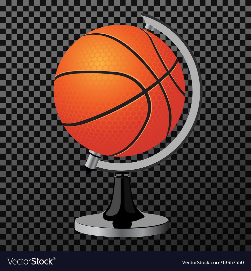 Ball a creative concept clean modern vector image