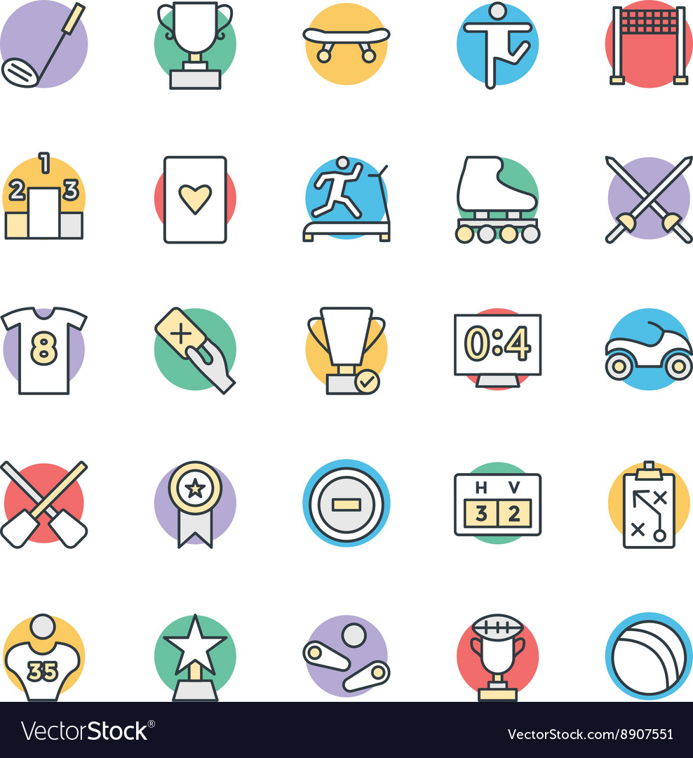 Sports Cool Icons 5 vector image