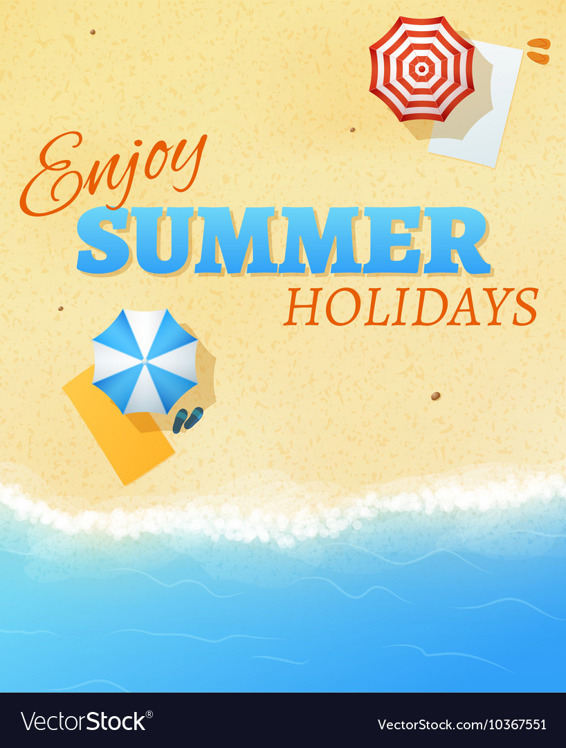 Summer beach party banner flyer background vector image