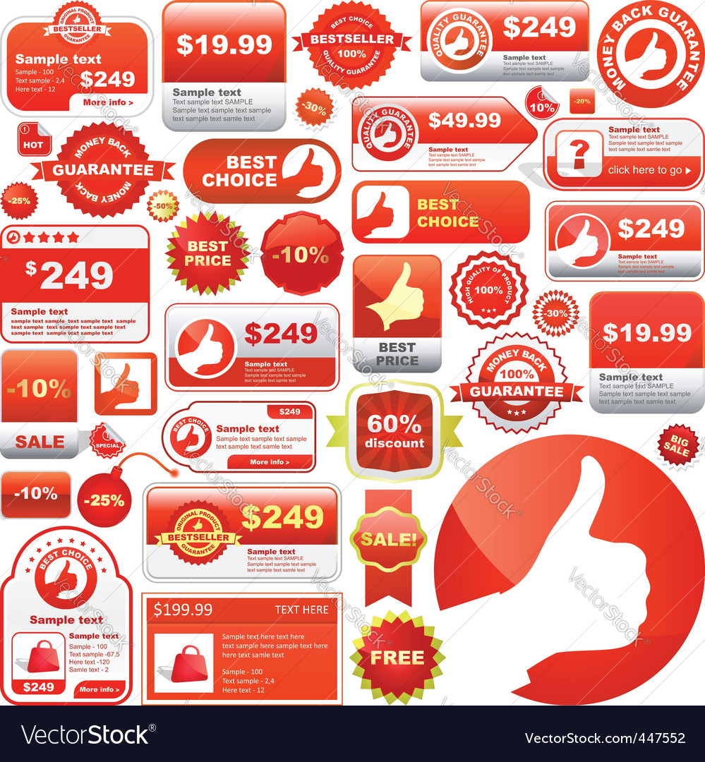 Great collection of sale signs vector image