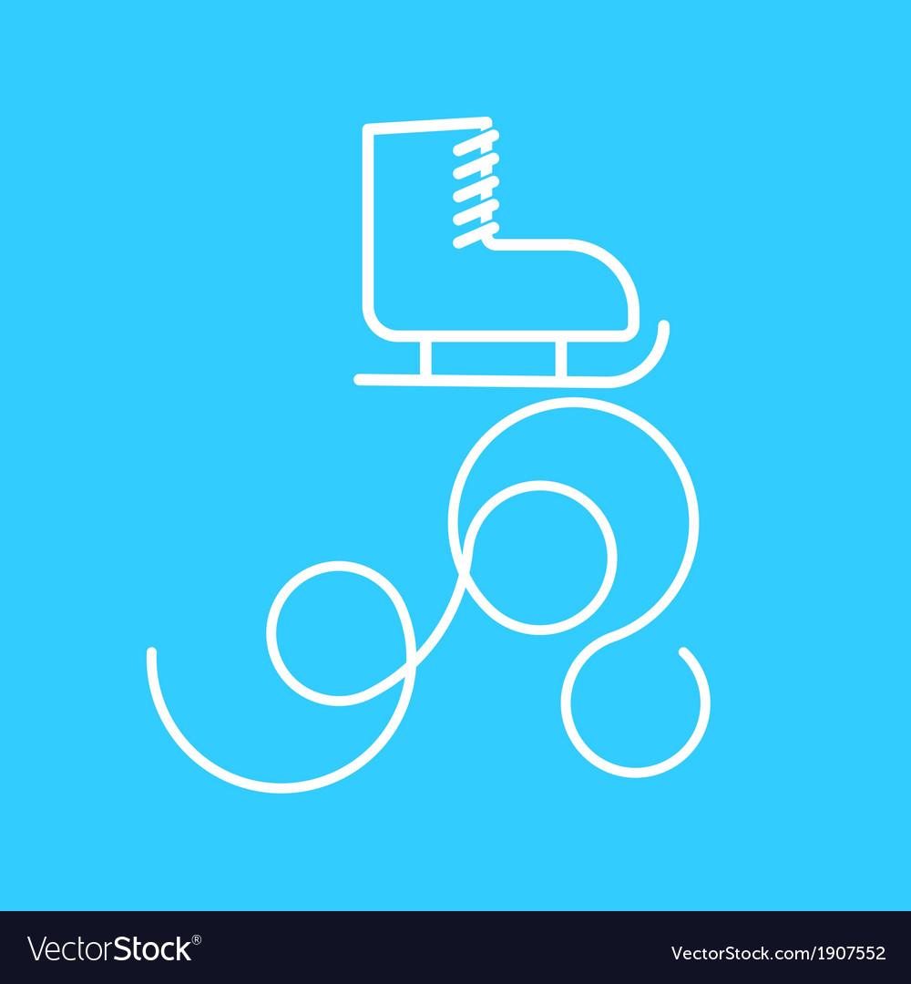 Light blue skate vector image
