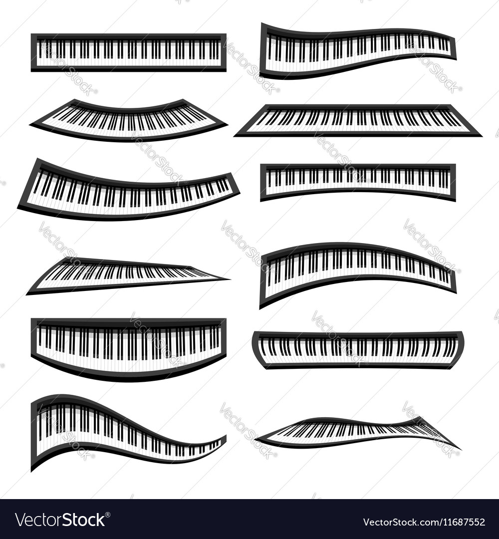 Piano Keyboards Isolated vector image