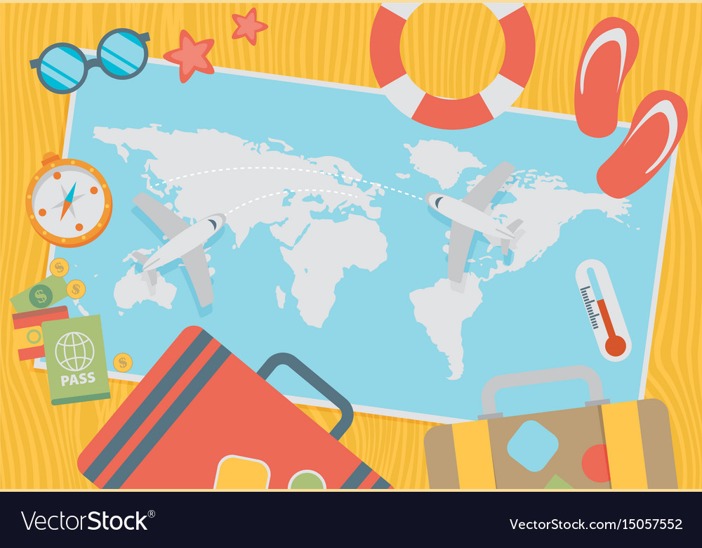 World travel and tourism concept vector image