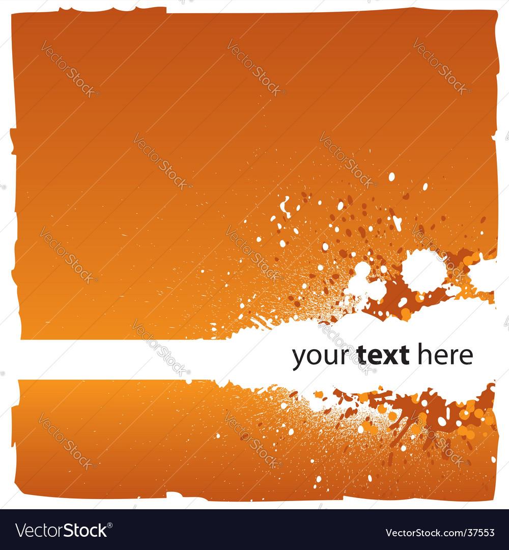 Splatters background vector image