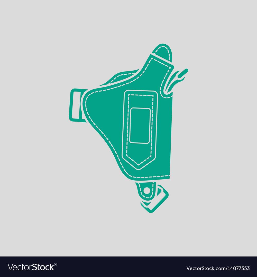 Police holster gun icon vector image