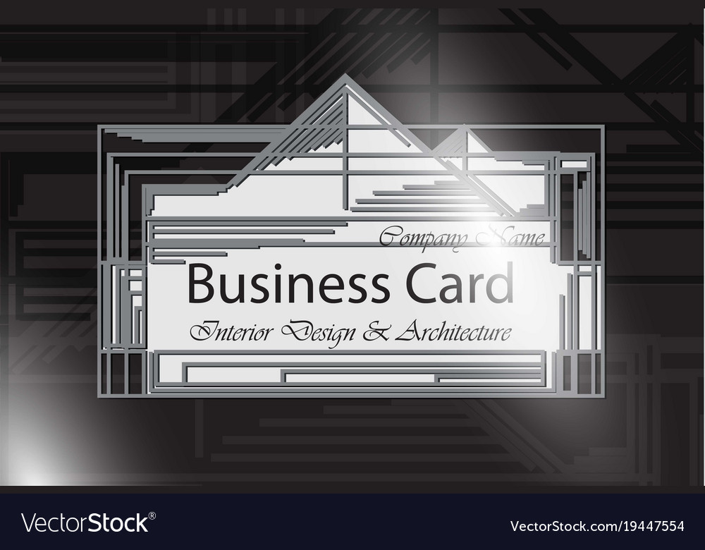 Business card interior design and architecture vector image reheart Images
