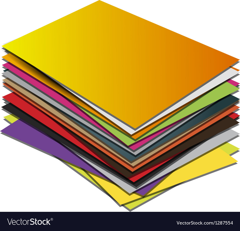 Business card pile template Royalty Free Vector Image