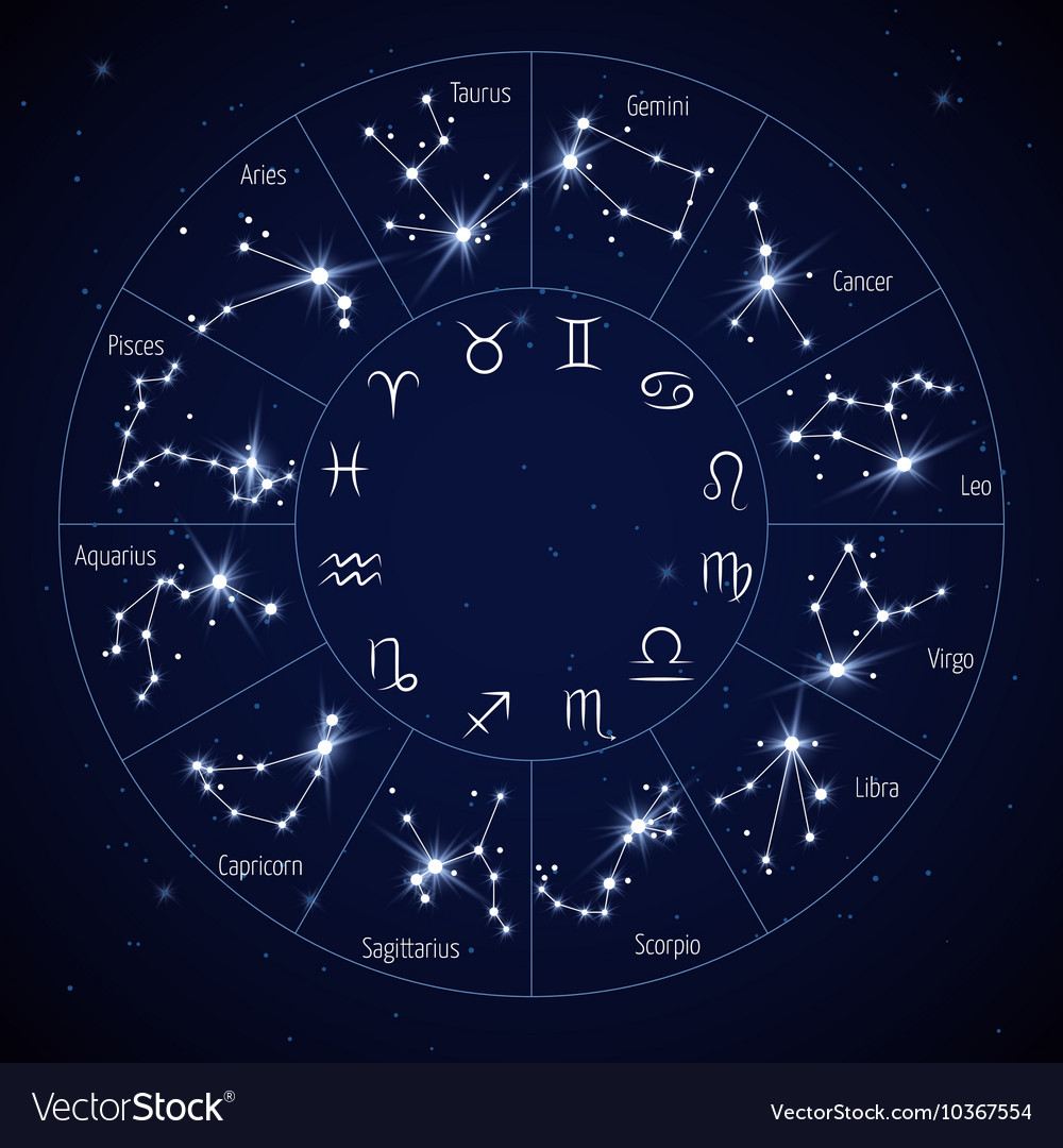 zodiac constellation map with leo virgo scorpio vector . constellation  map vector images (over )