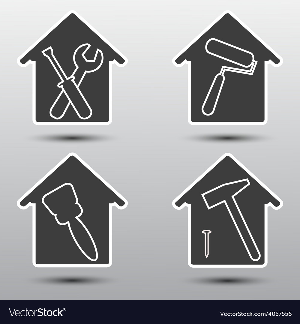 Home repairs icon set vector image