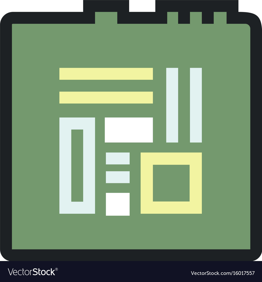 Computers and electronics technology icon vector image
