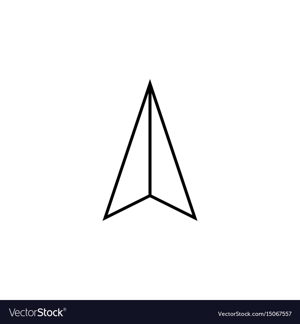 Location arrow line icon navigation and gps sign vector image