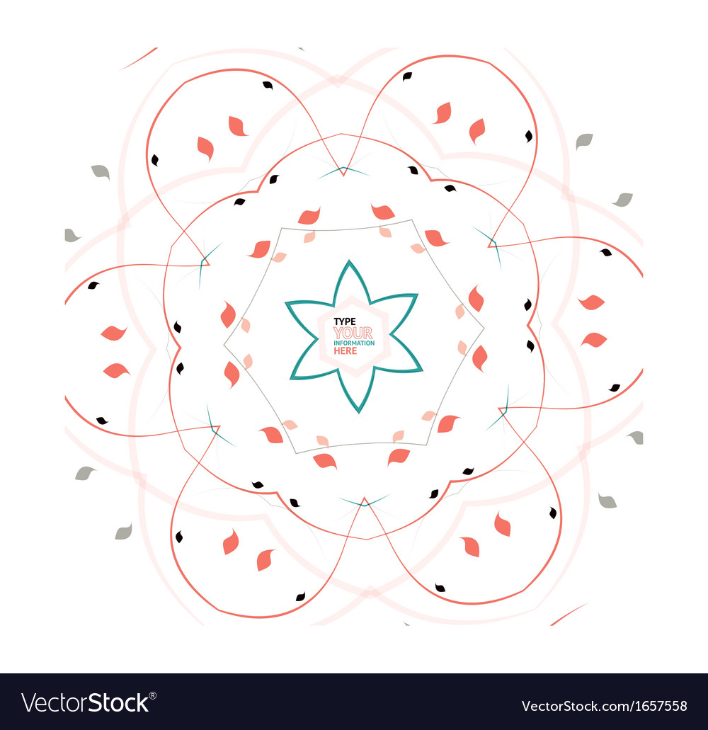 Abstract floral snowflake Christmas design vector image