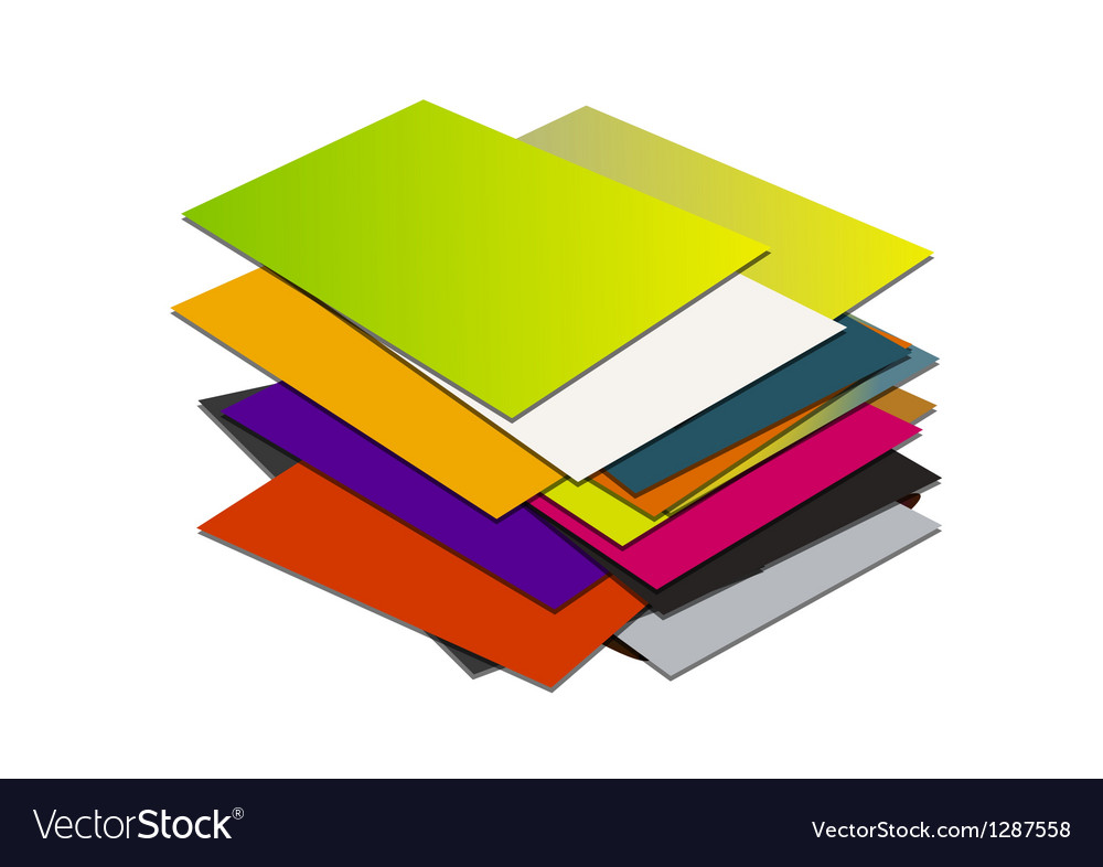 Business card pile template1 Royalty Free Vector Image