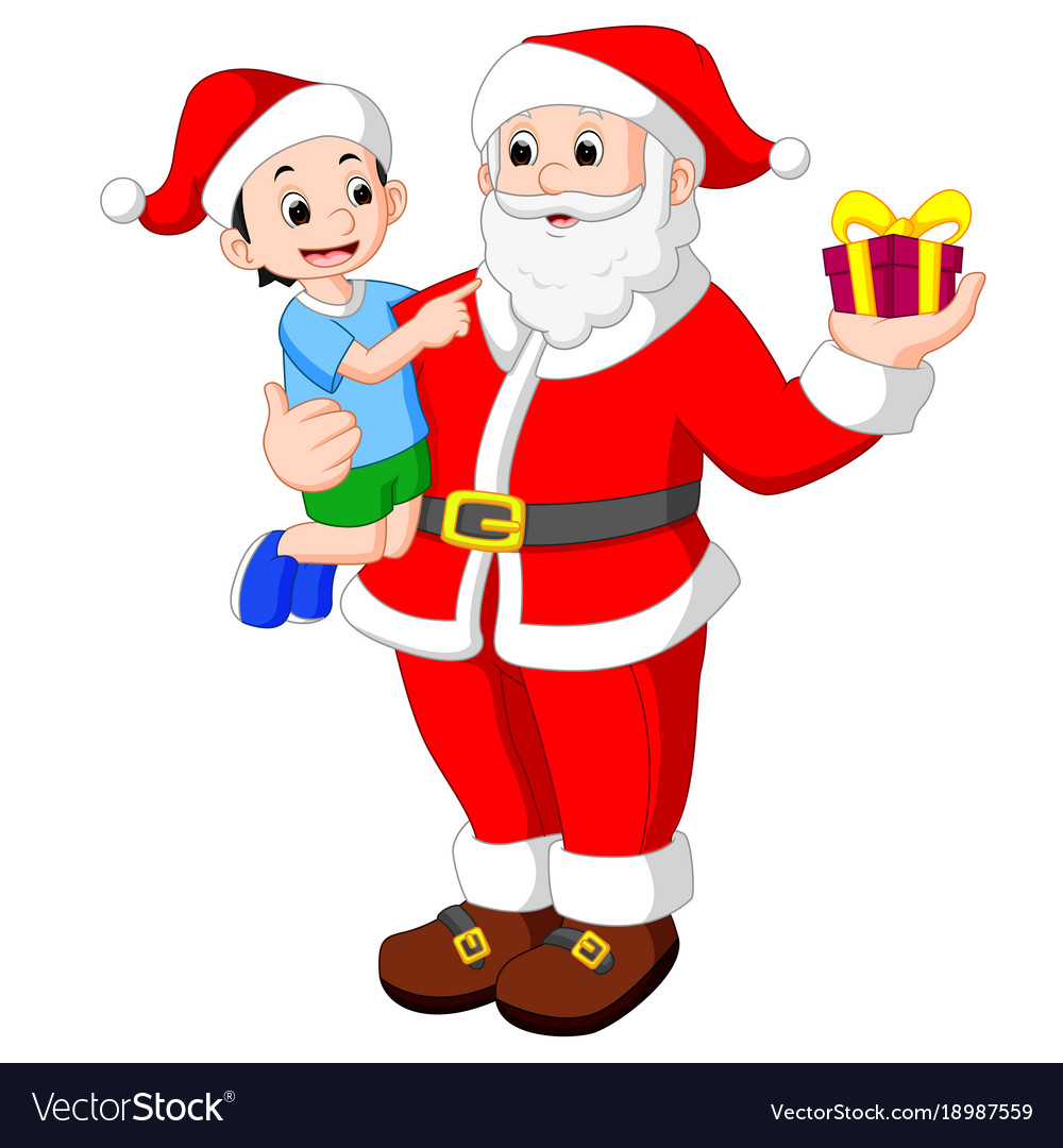 santa claus with kids vector image - Santa Claus With Kids