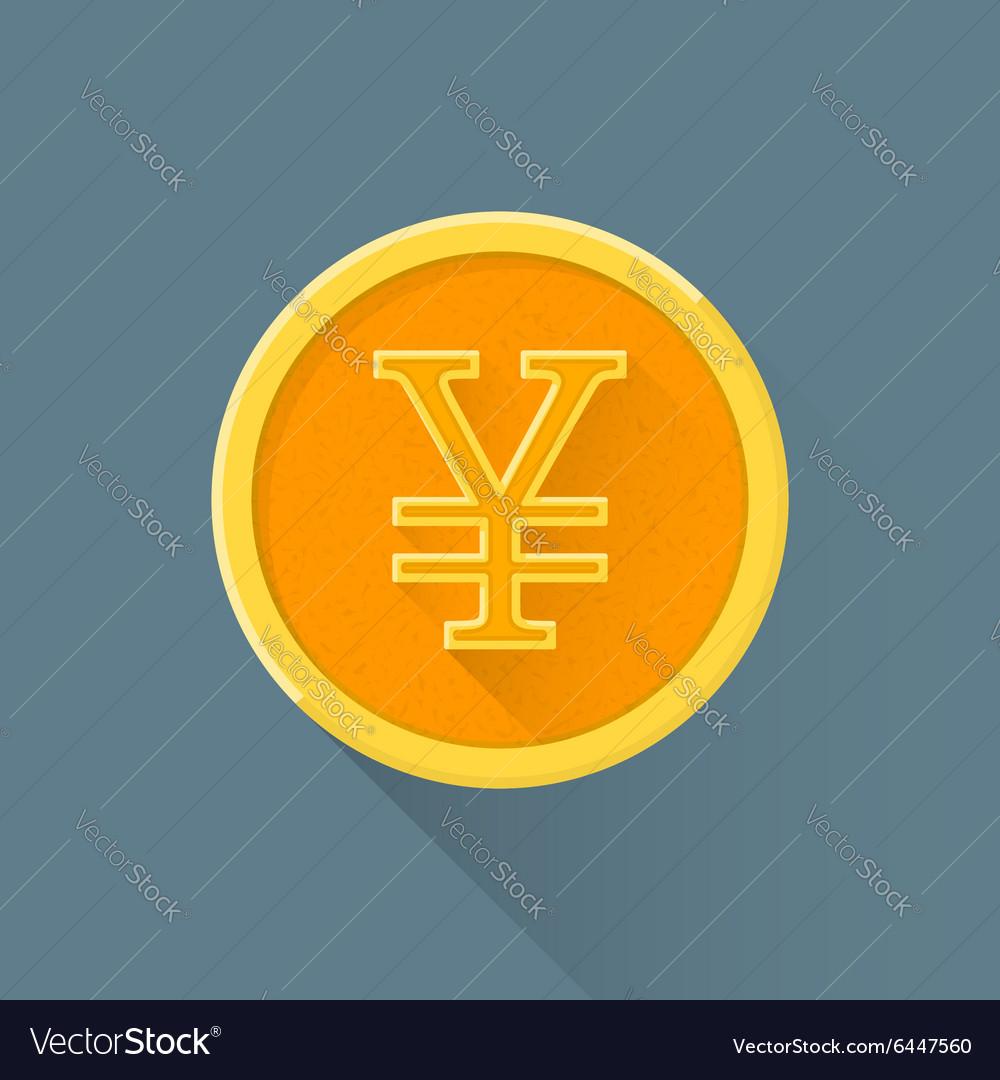 Flat abstract japanese yen symbol icon royalty free vector flat abstract japanese yen symbol icon vector image biocorpaavc Choice Image