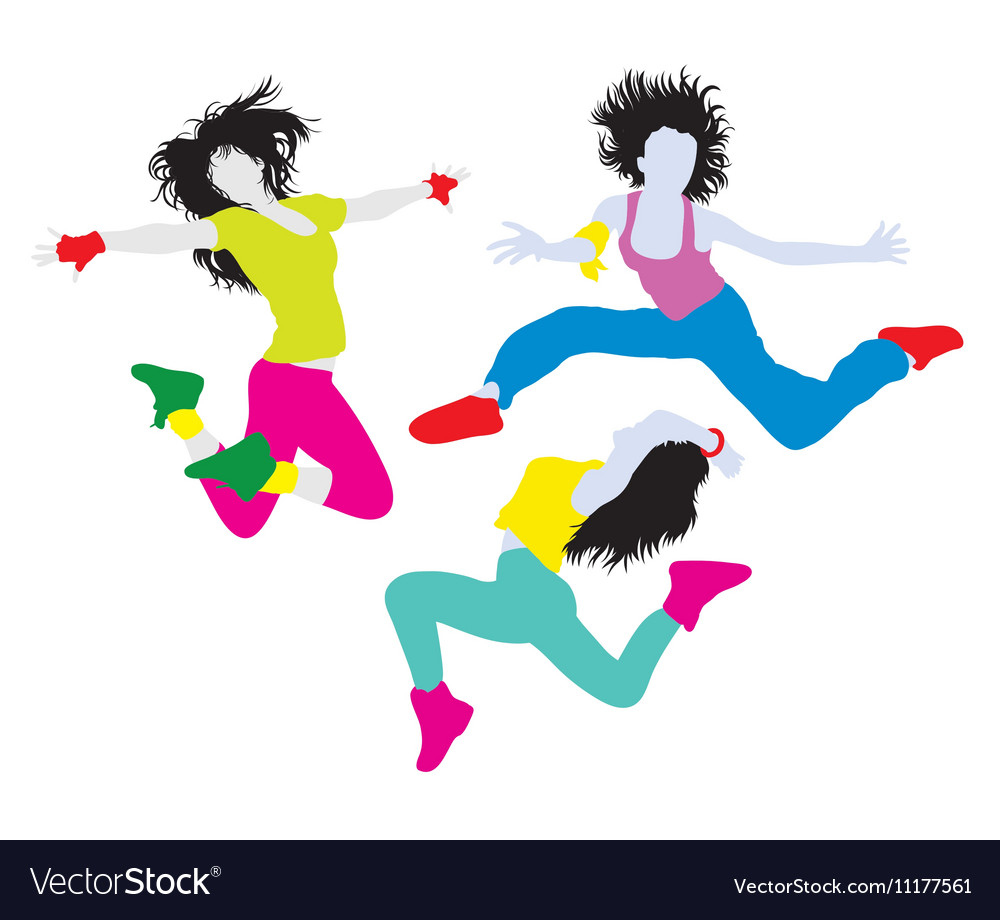 Hip Hop and Break Dancing Activity Silhouettes vector image