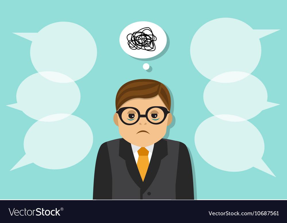 Tired sad businessman vector image