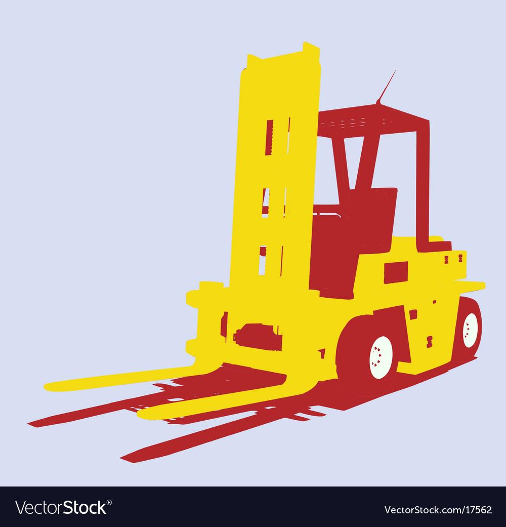 Fork lift vector image