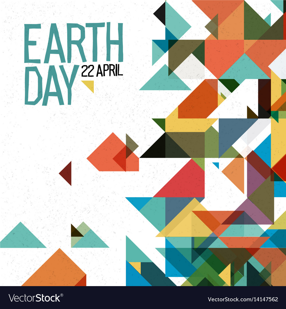 Earth day 22 april holiday poster abstract vector image