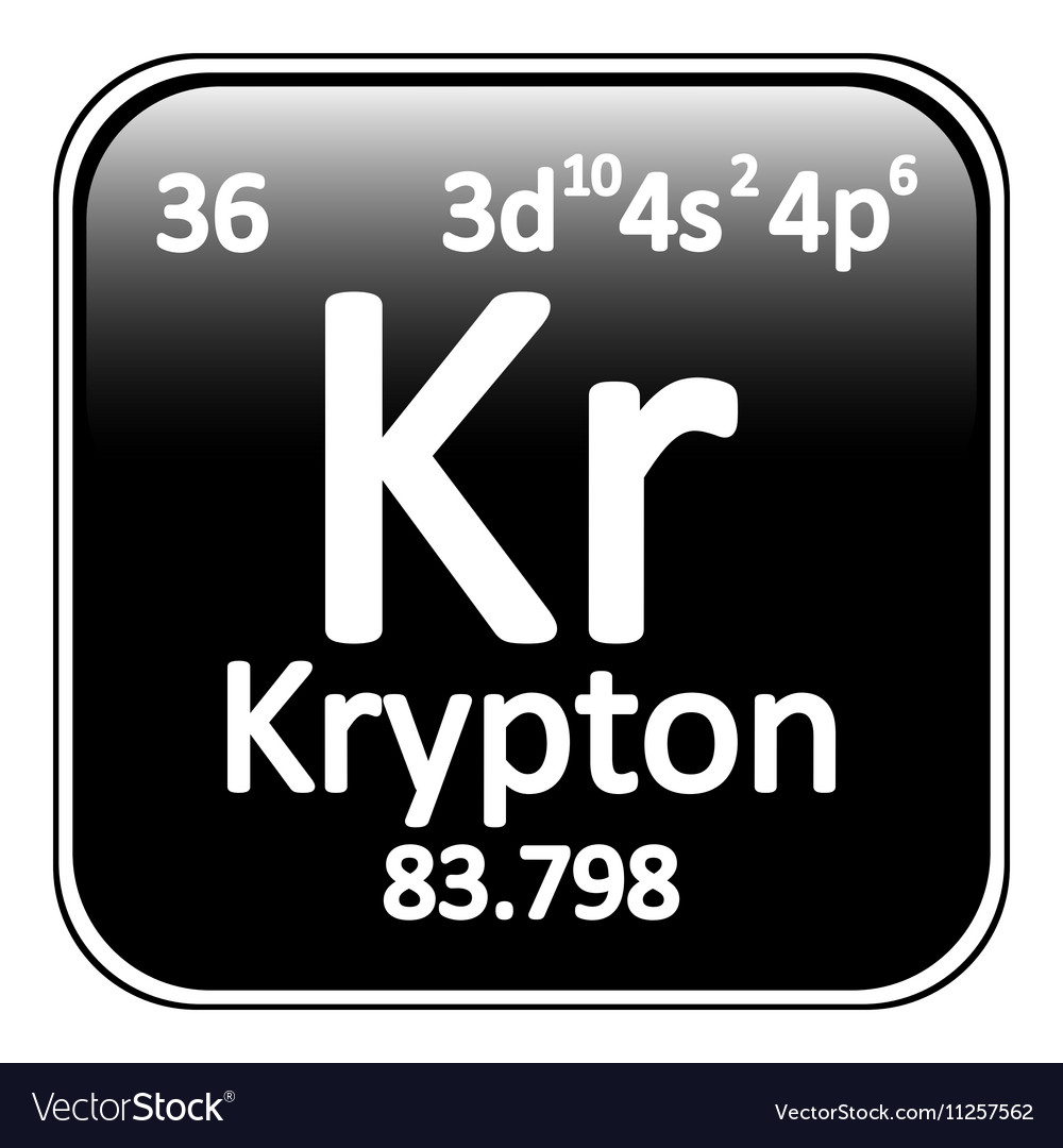 Periodic table element krypton icon royalty free vector periodic table element krypton icon vector image buycottarizona
