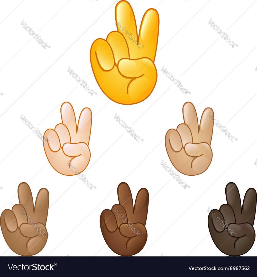 Victory hand emoji vector image