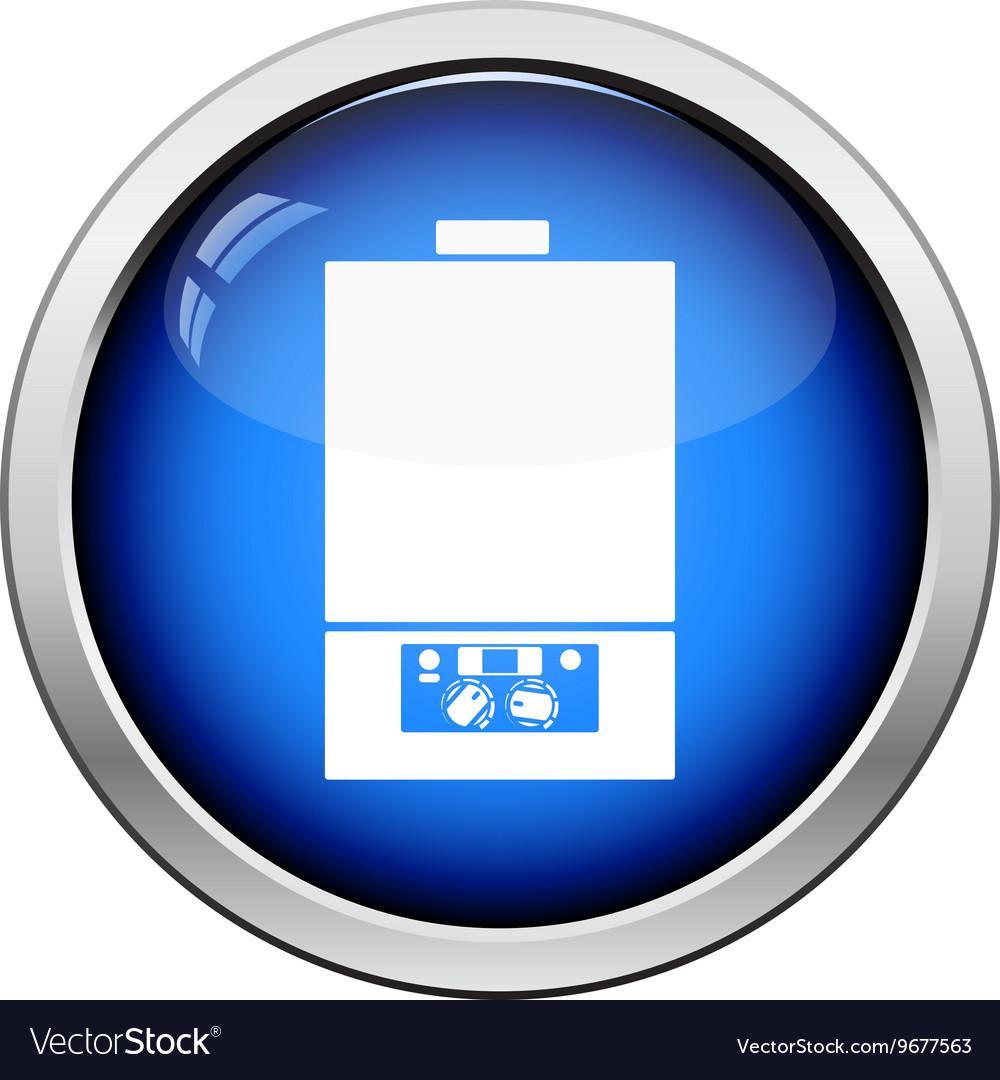 Gas boiler icon vector image