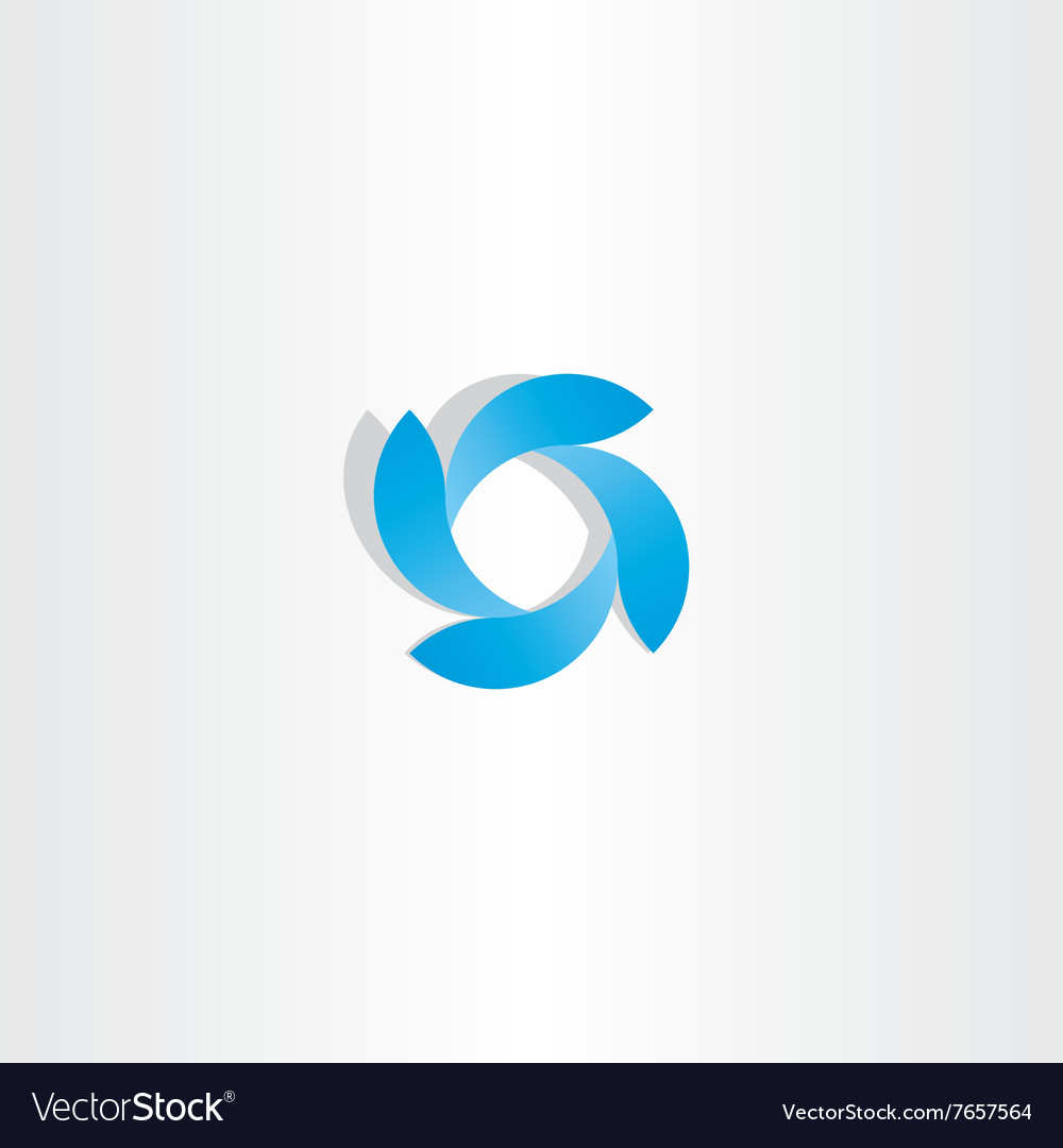 Abstract business logo blue tech icon symbol vector image