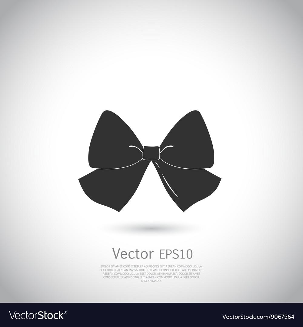 Black bow logo or icon vector image