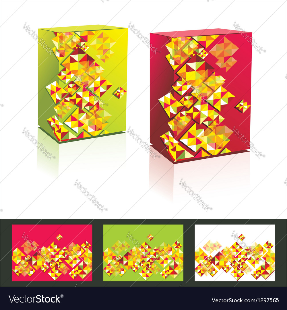 Music cd cover box design template vector image