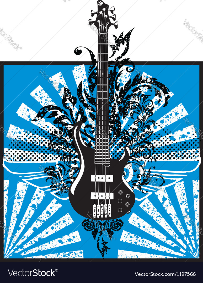 Electric guitar design vector image