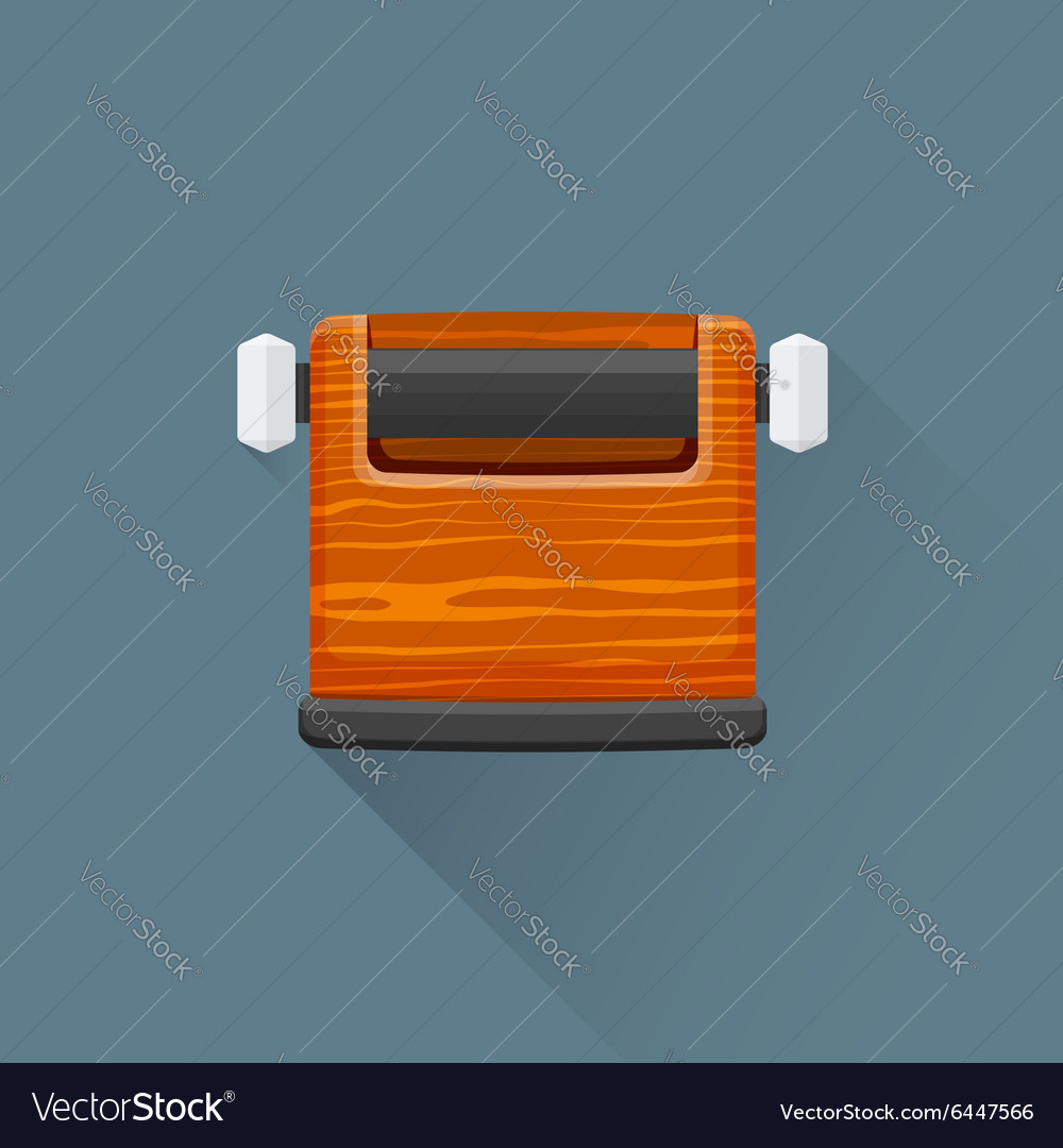Flat coffee barista knock box icon vector image