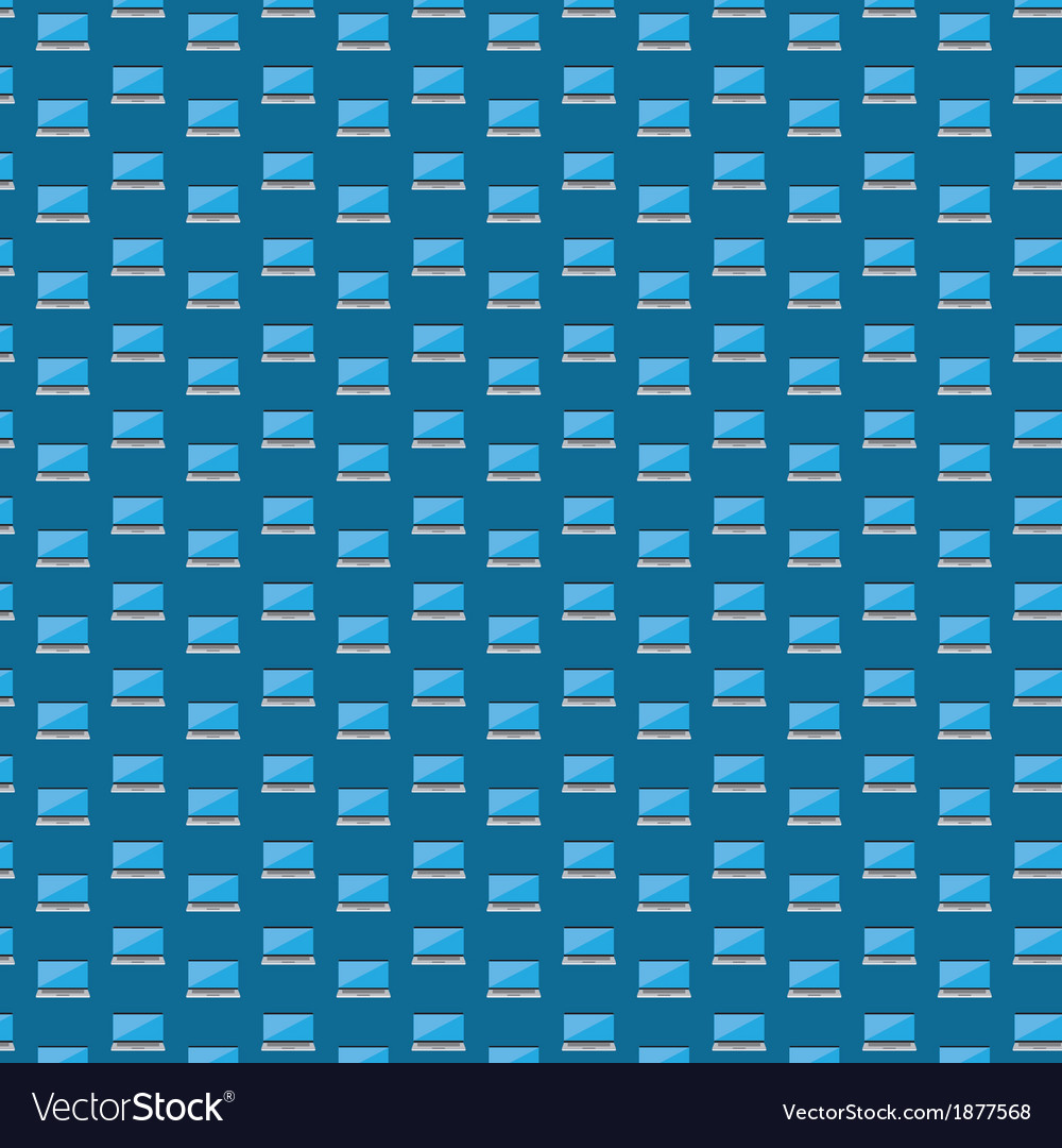 Smart laptop icon pattern vector image