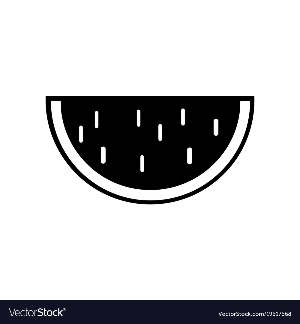 Water melon icon in trendy flat style isolated on vector image