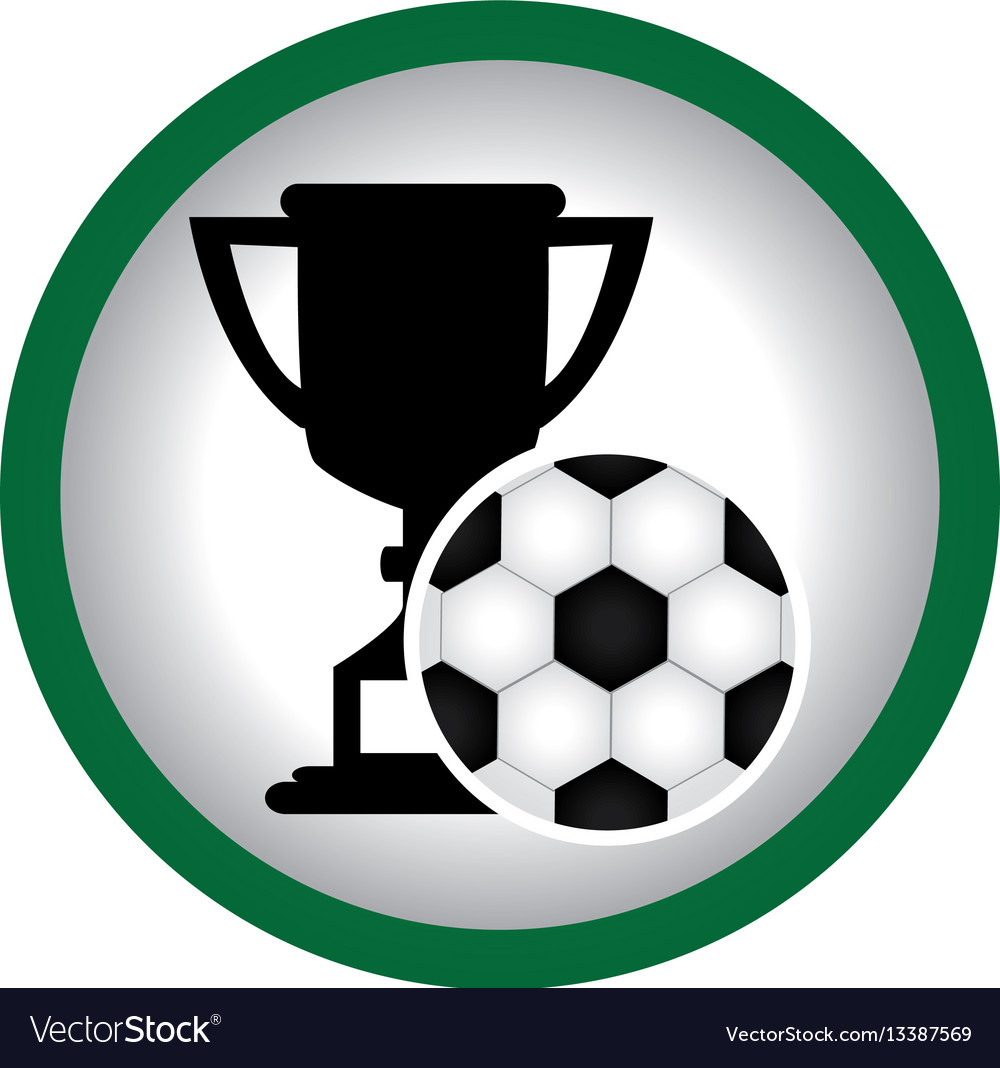 Circular frame with trophy with soccer ball vector image circular frame with trophy with soccer ball vector image jeuxipadfo Images
