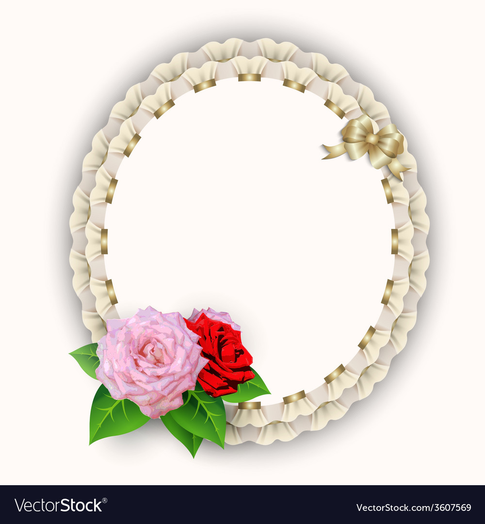Frame napkin with flowers vector image