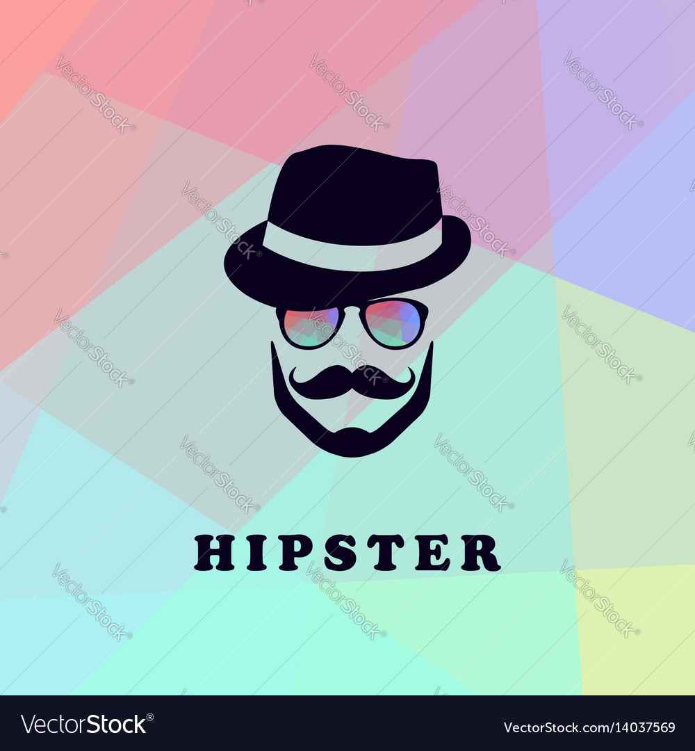 Hipster logo vector image