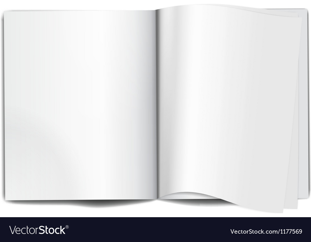 Magazine blank pages vector image