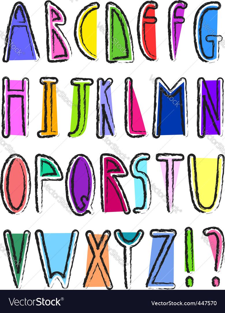 Artistic alphabet vector image