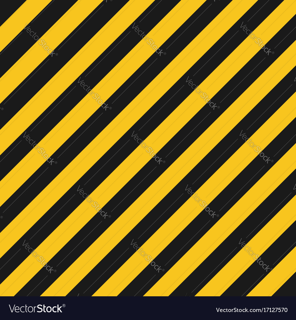 Hazard stripes texture industrial striped road vector image